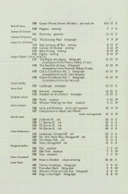 Graphic art exhibition guide: List of exhibits (Page 4)